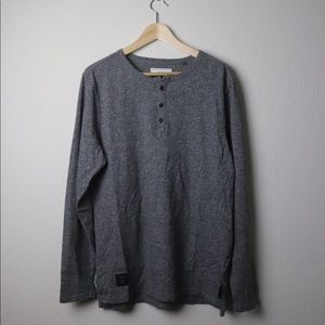 Five Four gray feathered Henley